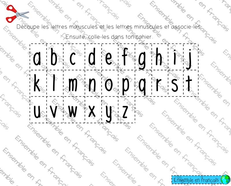 Alphabet Page 4 Ensemble En Francais